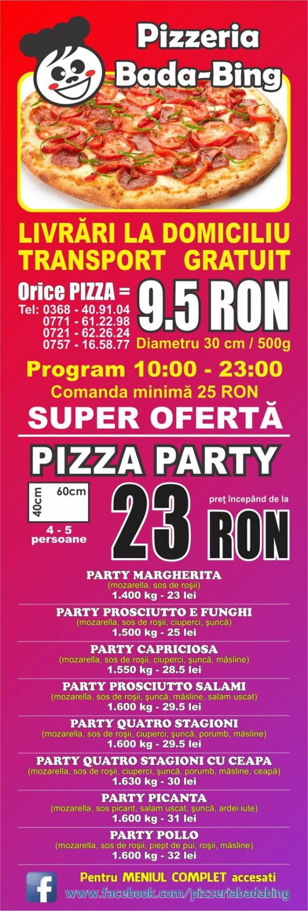 Ofertă Pizza Bada Bing Brasov