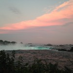 Niagara Waterfall sunset