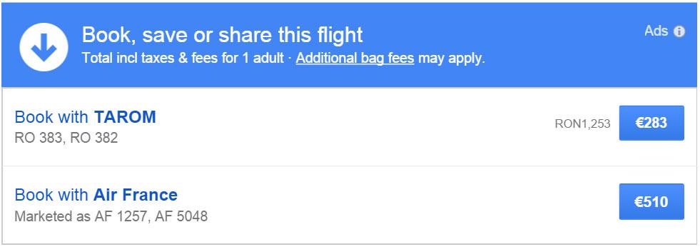 cumpara bilete ieftine de avion prin google flights