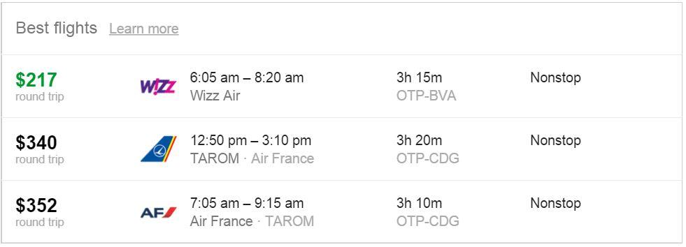Zboruri ieftine cu Google Flights